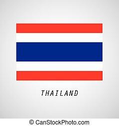 Thailand Flag graphic design