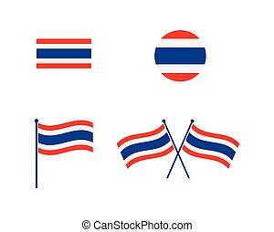 thailand flag icon vector illustration
