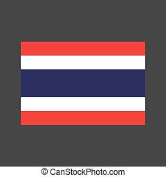 Thailand flag illustration - Thailand flag on the gray...
