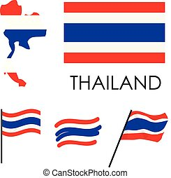 Thailand Flag illustration vector