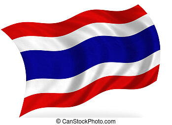 Thailand flag, isolated