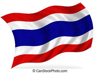 Thailand flag, isolated