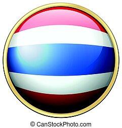 Thailand flag on round badge