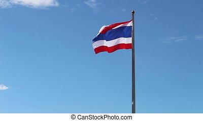 Thailand flag on sky background