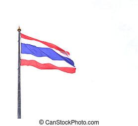 Thailand flag on white background