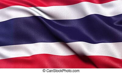 Thailand flag seamless loop