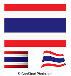 Thailand flag set