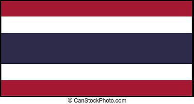 Thailand flag vector illustration isolated on background
