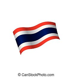 Thailand flag, vector illustration