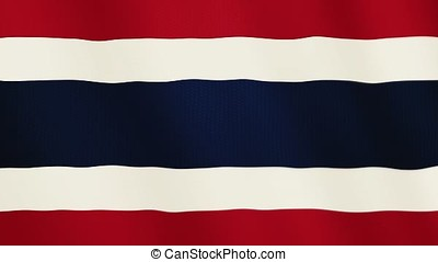 Thailand flag waving animation. Full Screen. Symbol of the country.