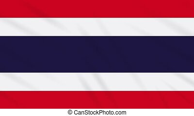 Thailand flag waving cloth, ideal for background, loop