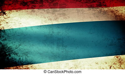 Thailand Flag Waving, grunge look