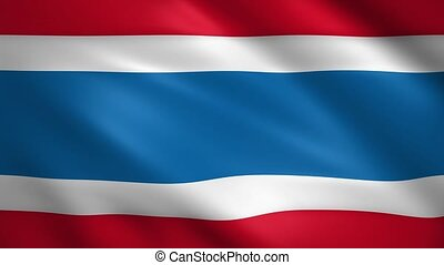 Thailand flag moving in the wind