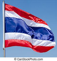 thailand flag with nice sky on flagstaff