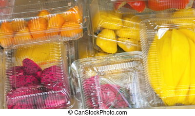 Thailand fresh fruits prepare