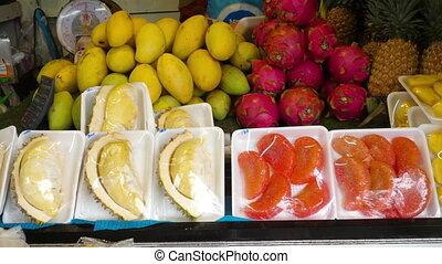 Thailand fresh fruits prepare