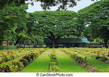 thailand, friedhof, kanchanaburi