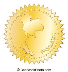 Thailand Gold Seal Of Approval Badge