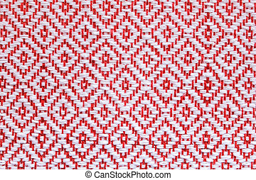 Thailand Hand-woven fabric red square