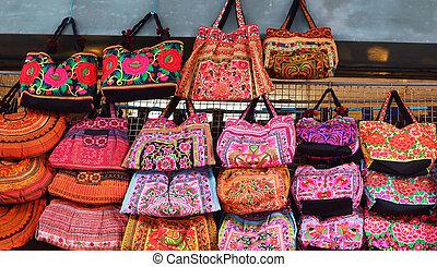 Thailand handmade bags.