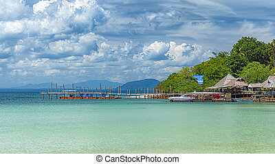 Thailand Island Rickety Old Pier - A rickety old pier at one...