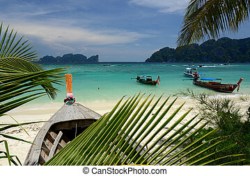 THAILAND KRABI - A Beach on the Island of Ko PhiPhi on Ko...