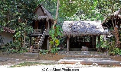 Thailand. Landscape. - thailand, bungalow in tropical forest