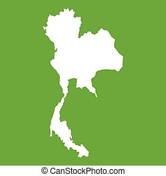 Thailand map icon green