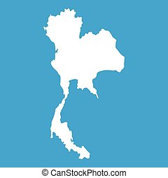 Thailand map icon white