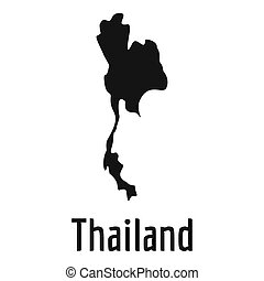 Thailand map in black simple