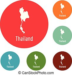 Thailand map in black vector simple