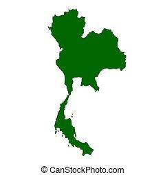 Thailand map isolated on white background.