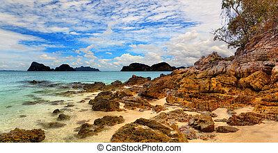 thailand, meer, landschaftsbild, wolkenhimmel