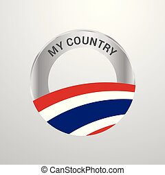 Thailand My Country Flag badge