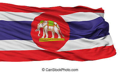 Thailand Naval Ensign Flag, Isolated On White Background, 3D...