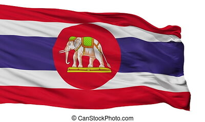 Thailand Naval Ensign Flag Isolated Seamless Loop - Naval...