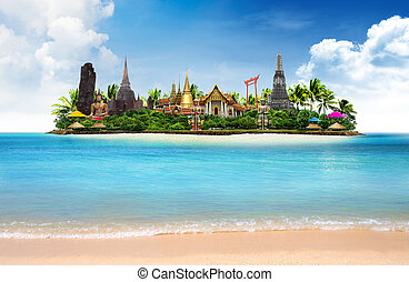 Thailand ocean landscape, concept