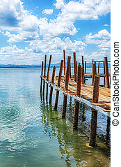 Thailand Old Rickety Pier - A rickety old pier at one of ...