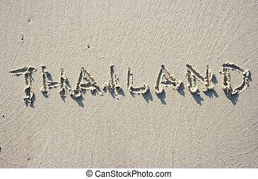 Thailand on sand