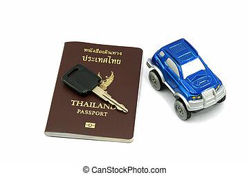 Thailand Passport and Car