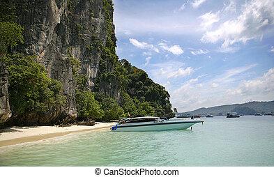 Thailand Phi Phi Boat Trip Tropical Island