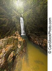 thailand., phuket, cascada, bangpae, provincia, hermoso