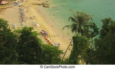 Thailand, Phuket island. Landscape with tropical beach