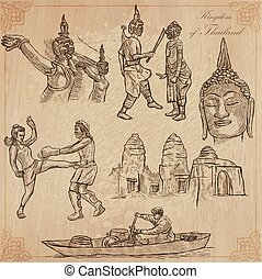 Thailand. Pictures of Life. Vector pack. - Travel - Kingdom ...