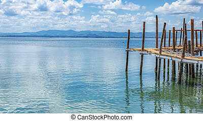Thailand Rickety Old Pier - A rickety old pier at one of ...