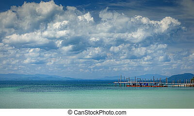 Thailand Rickety Old Pier Seascape - A rickety old pier at ...