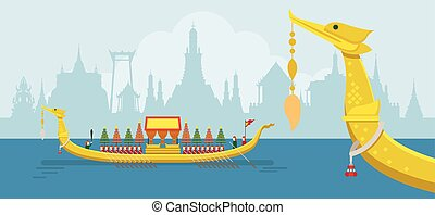 Thailand Royal Barge, Suphannahong - Traditional Culture and...