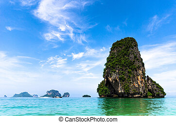 Thailand sea with blue sky