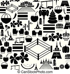 thailand seamless pattern background icon.