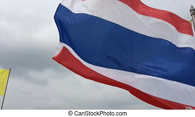 Thailand siam flag slow motion